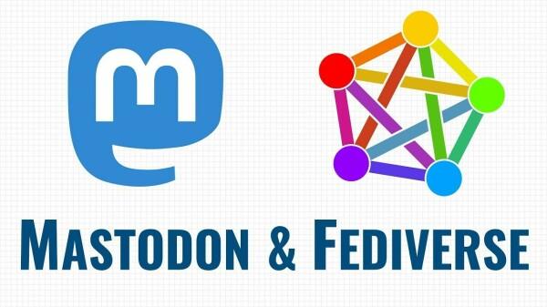Logo di Mastodon e Logo del Fediverso
